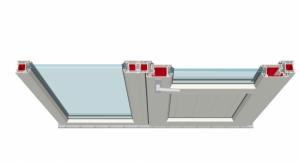 Bayındır Seri Sabit Kasa ve Balkon Kapı Bağ Profilli Birleşim Uygulaması